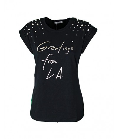 Maglia Greetings from LA 72371 Maglieria e T-shirt donna Encaty EC72371 14,90 €